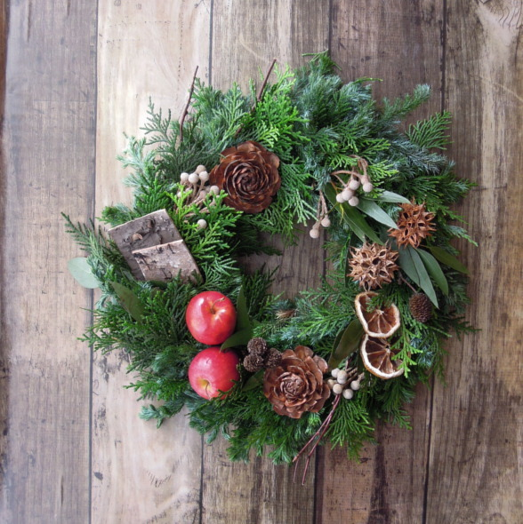 『送料無料』*6 Fresh Xmas Wreath フ...