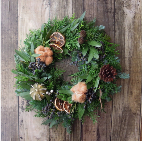 『送料無料』*8 Fresh Xmas Wreath フ...