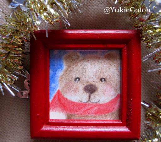 クリスマスミニ原画クマ