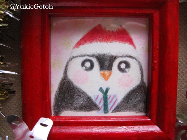 クリスマスミニ原画ペンギン