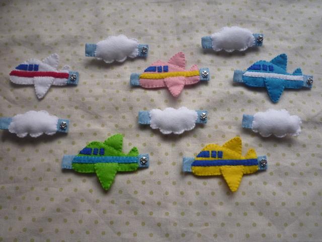 <再販>飛行機と雲のスナップボタン