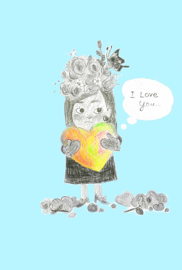 I love you(ブルー) ポストカードセット