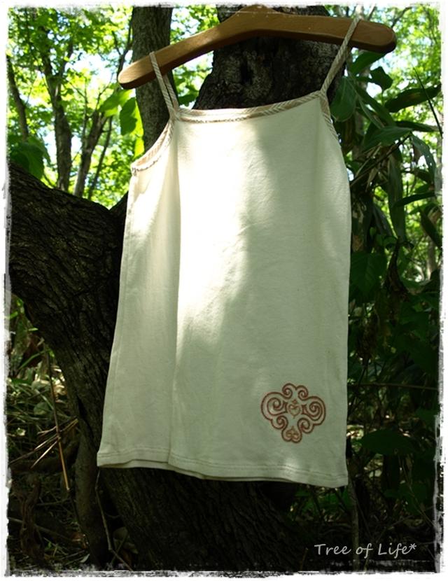 オーガニックコットン・手刺繍キャミソール