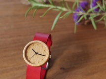Beech / Red leather- 32