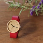 Beech / Red leather  - 38
