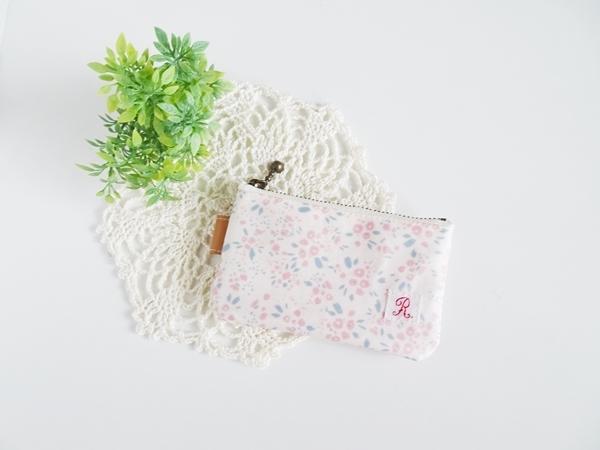 ポケットコインポーチ・ピンクの花柄