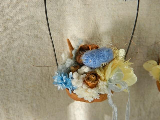 しあわせの青い鳥・・・くるみの花かご・・・