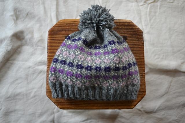 ≪ご注文品≫ グレーの小花柄の帽子