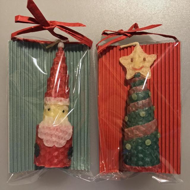 ミツロウのくるくるクリスマスキャンドルセットB