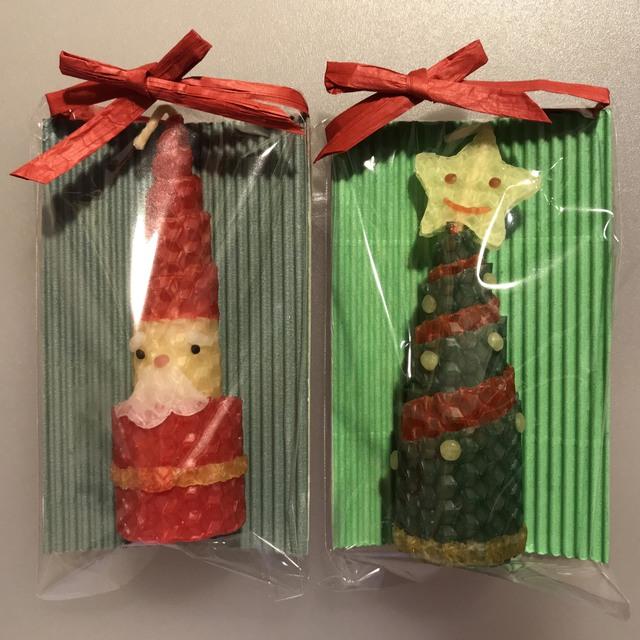 ミツロウのくるくるクリスマスキャンドルセットC