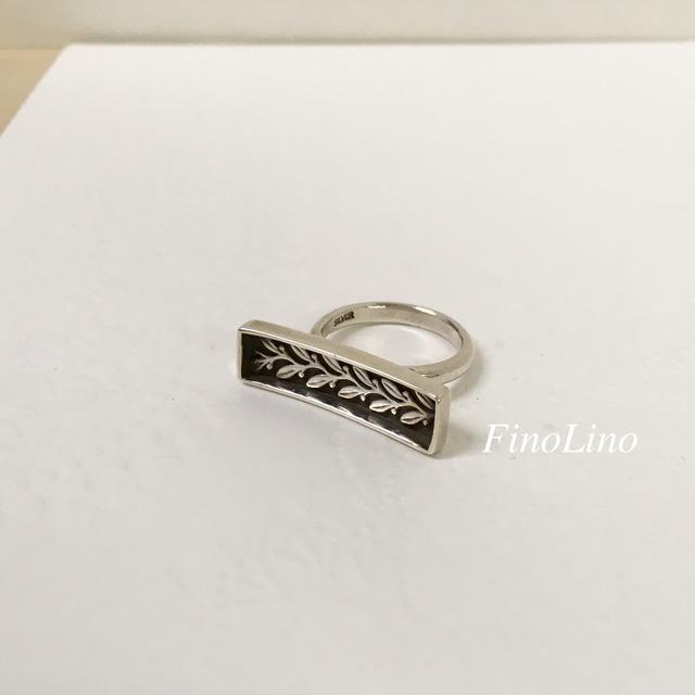 【SALE】シルバー製 リーフのリング