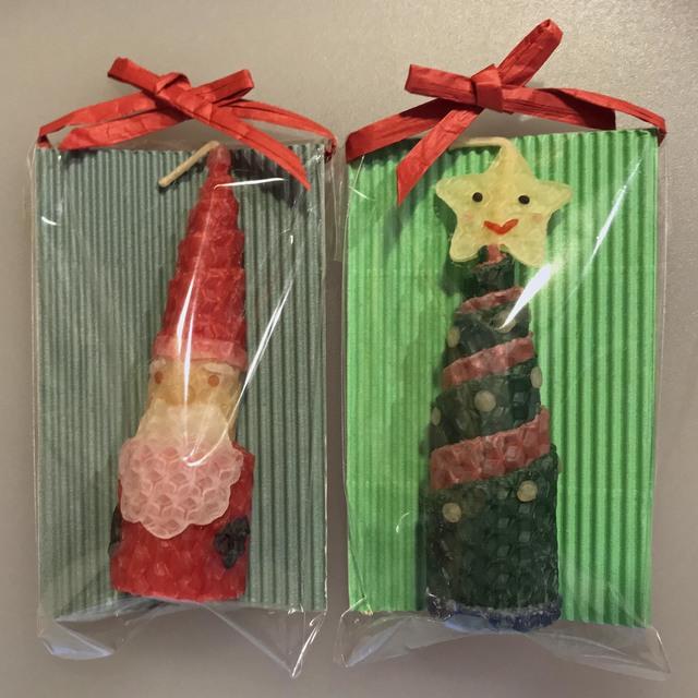 ミツロウのくるくるクリスマスキャンド...