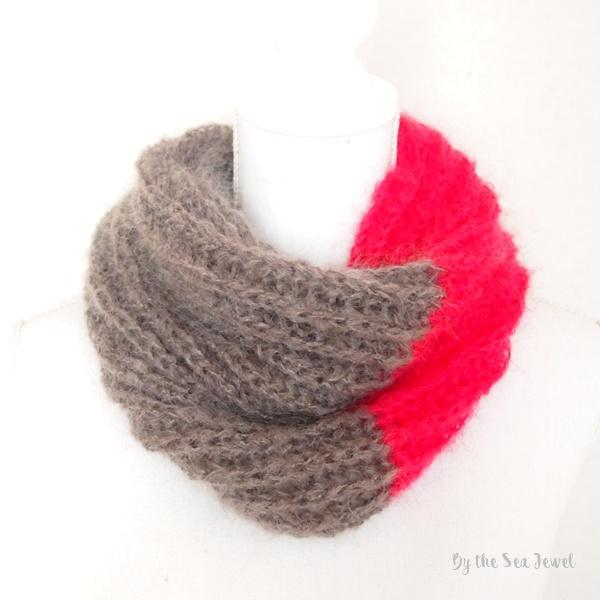 Hand Knit Infinity モヘア ネックウォ...