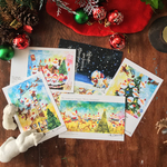 Merry Christmas postcard set.