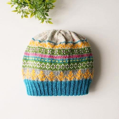 キッズサイズ☆暖か二重ニット帽