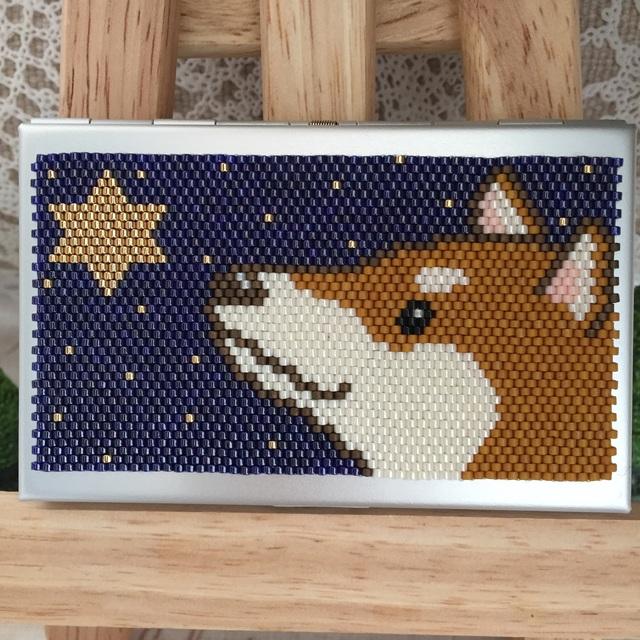 カードケース(星に願いを-柴犬?)