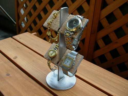 4本掛け腕時計収納、保管スタンド