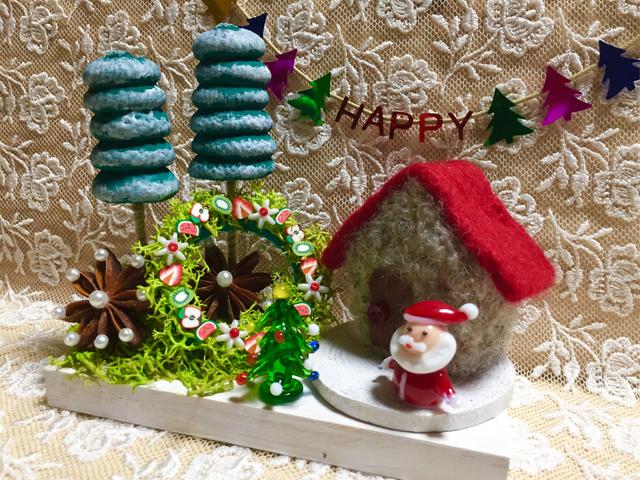 クリスマス飾り   サンタクロースのお家