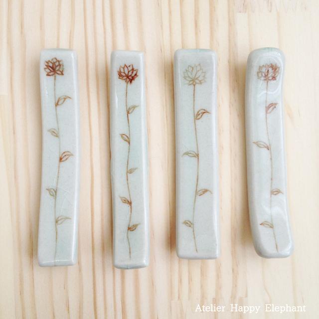 お花模様の箸置き