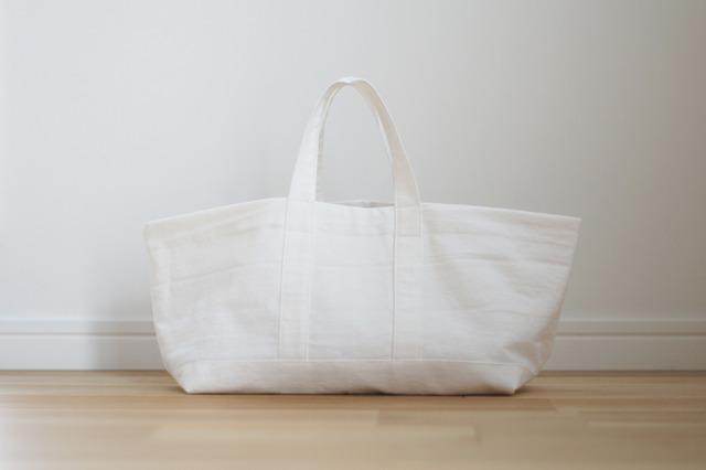 【再販】横長トートバッグ(ホワイト)