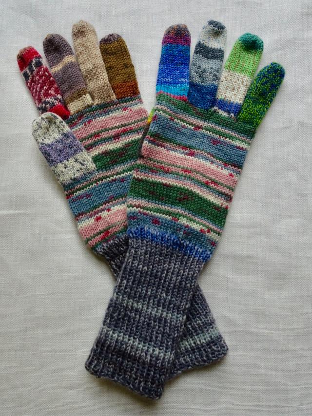 手編み5本指手袋 No.56