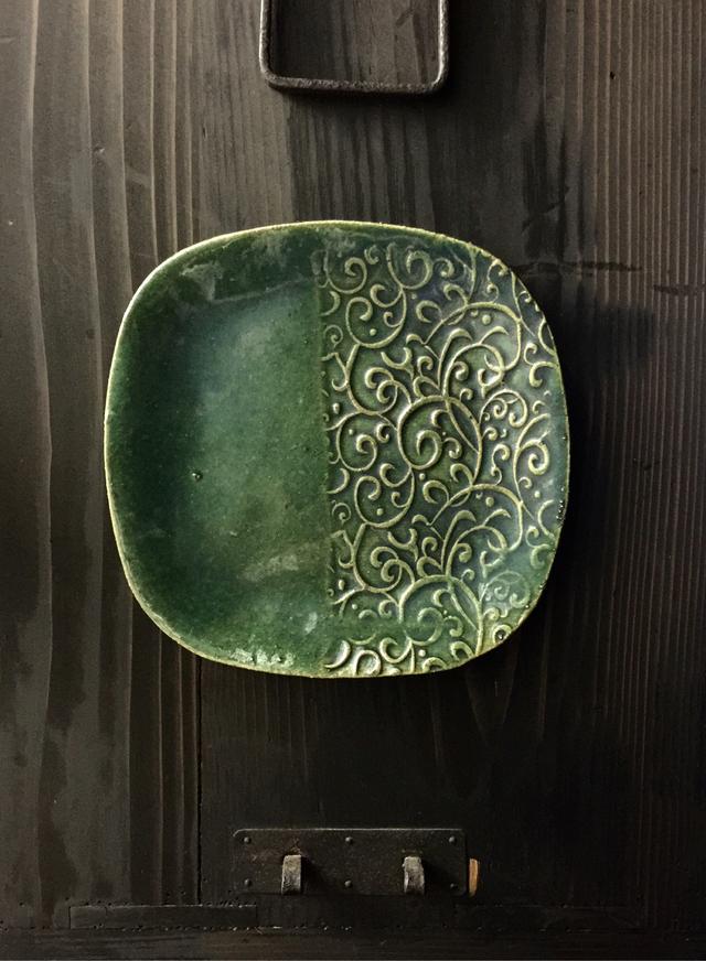 唐草デザート皿