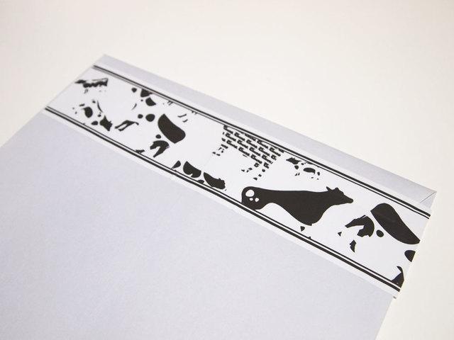 牛型牛柄梱包テープ(長さ3m)