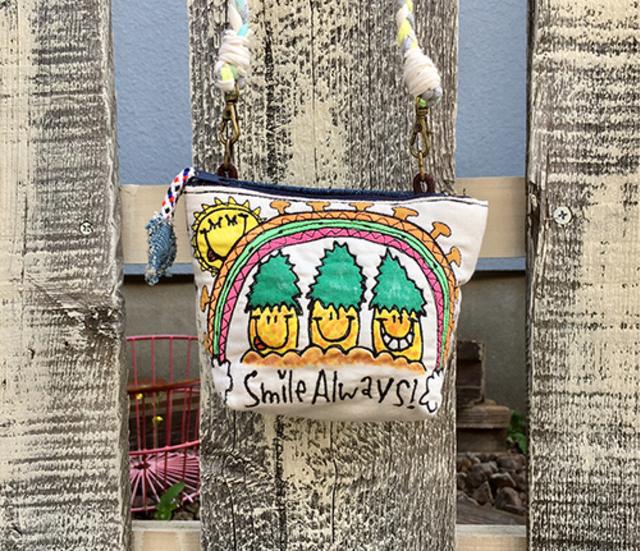 パイナップルレインボー刺繍マチ付きシ...