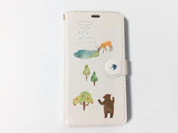 iphone5~X【里山の動物】手帳型スマホケ...