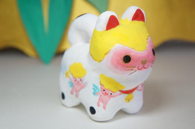 縁起干支 チー狛犬(犬張子)