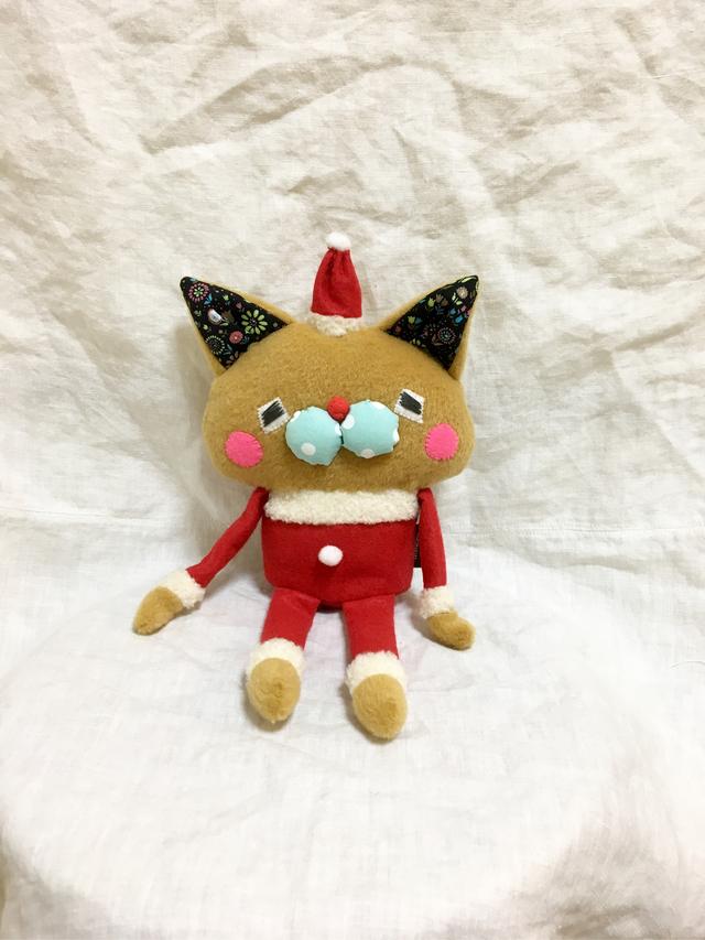 チビながネコやん-63(サンタ、しっぽ付き)