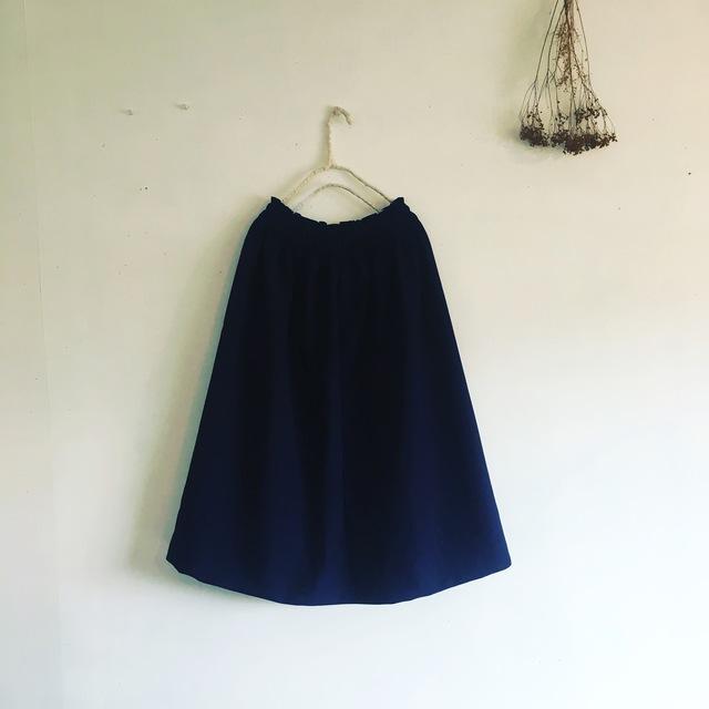 濃紺☆ギャザースカート(013)