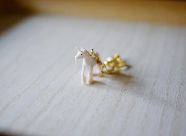 (Sold out)animal片耳イヤリング【Unicorn】