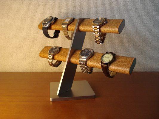 6本掛けだ円腕時計スタンド ロングトレイ