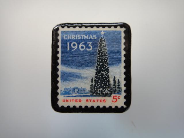 アメリカ クリスマス切手ブローチ 3178