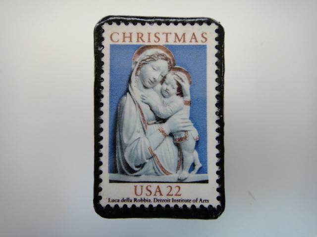 アメリカ クリスマス切手ブローチ 3179