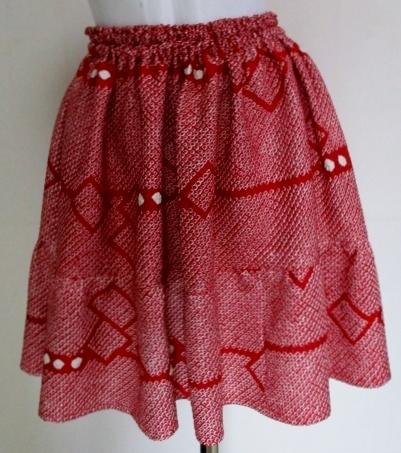 送料無料 正絹の絞りの羽織で作ったミ...