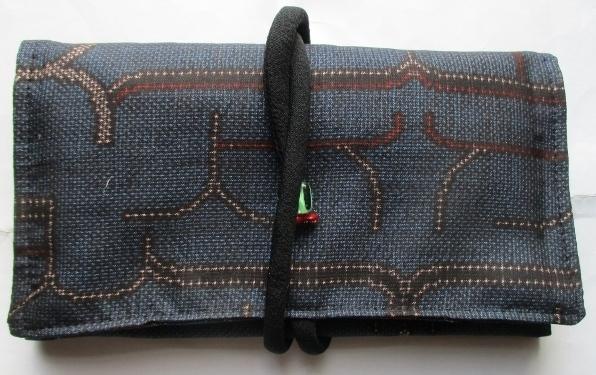 送料無料 色大島紬の着物で作った和風...