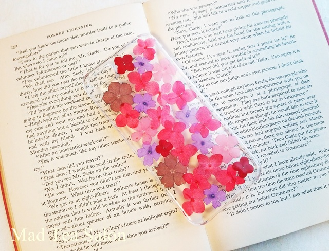 【秋色シリーズ】赤と紫の大人色iphone5.5sカバー