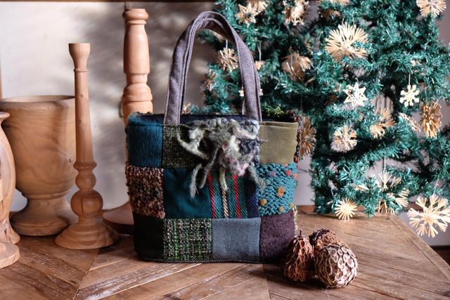 Knit Patti-bag パッチワークバッグ g...