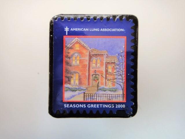 アメリカ クリスマス切手ブローチ3186