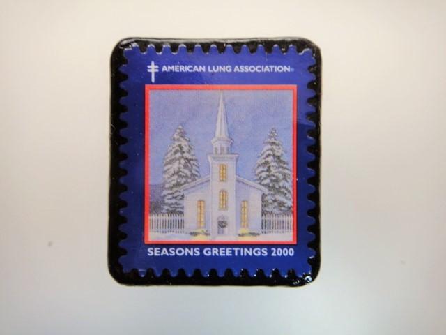アメリカ クリスマス切手ブローチ3188