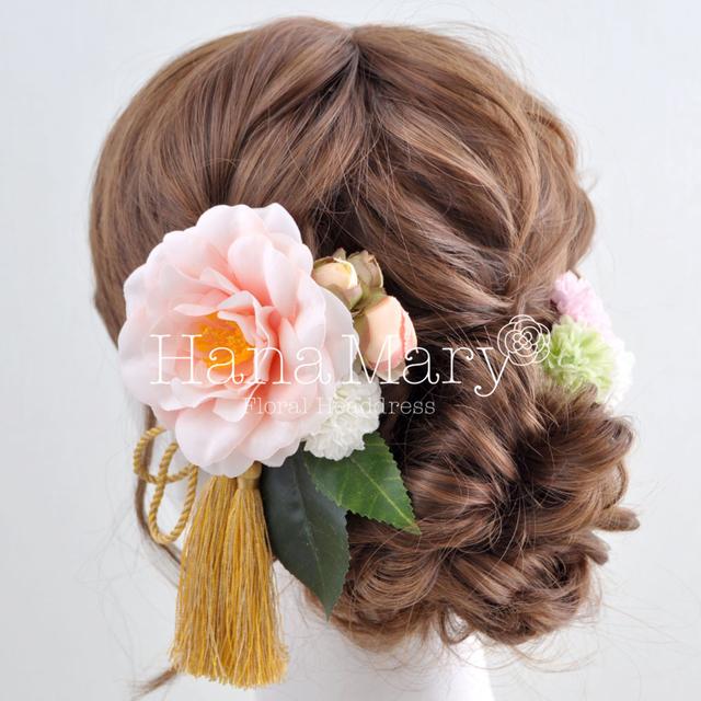 椿の髪飾り両サイドVer.