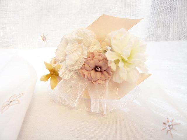花々バレッタ/ピンク