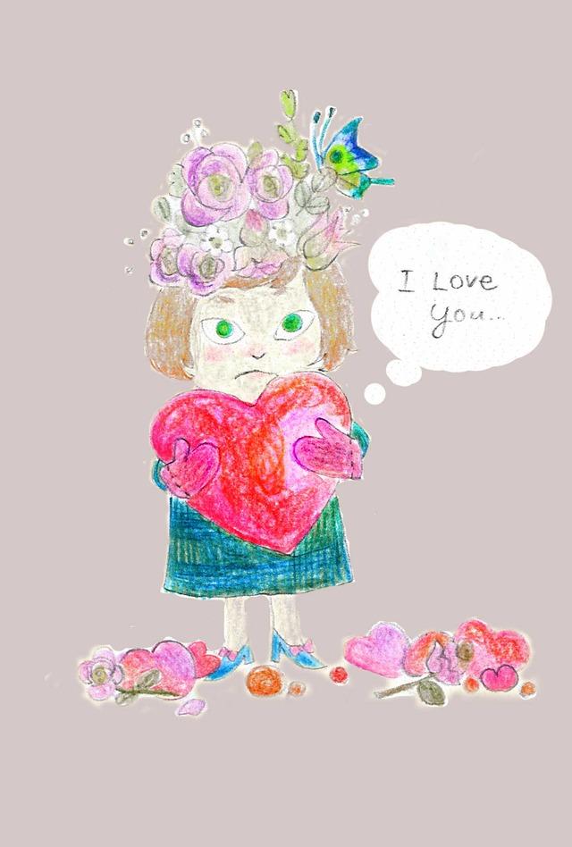 I love you(グレー) ポストカードセット