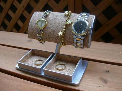 大きいだ円パイプ腕時計スタンド トレイ付き
