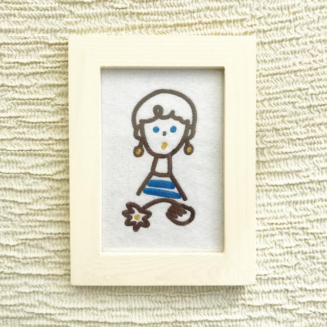 パリの女の子の刺繍フレーム