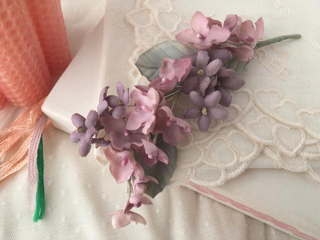 sale**スミレと紫陽花の髪飾り