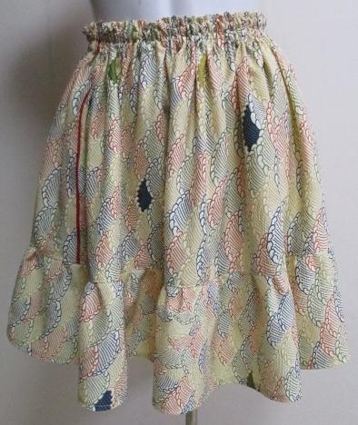 送料無料 訪問着で作ったミニスカート...