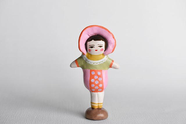 文化人形らしきひと(ピンクボンネット)